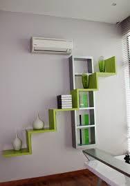 Desain Dinding Interior dengan Rak