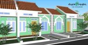 Cluster Muslim Loji Rumah di Bogor Kota dekat Stasiun dan Kebun Raya