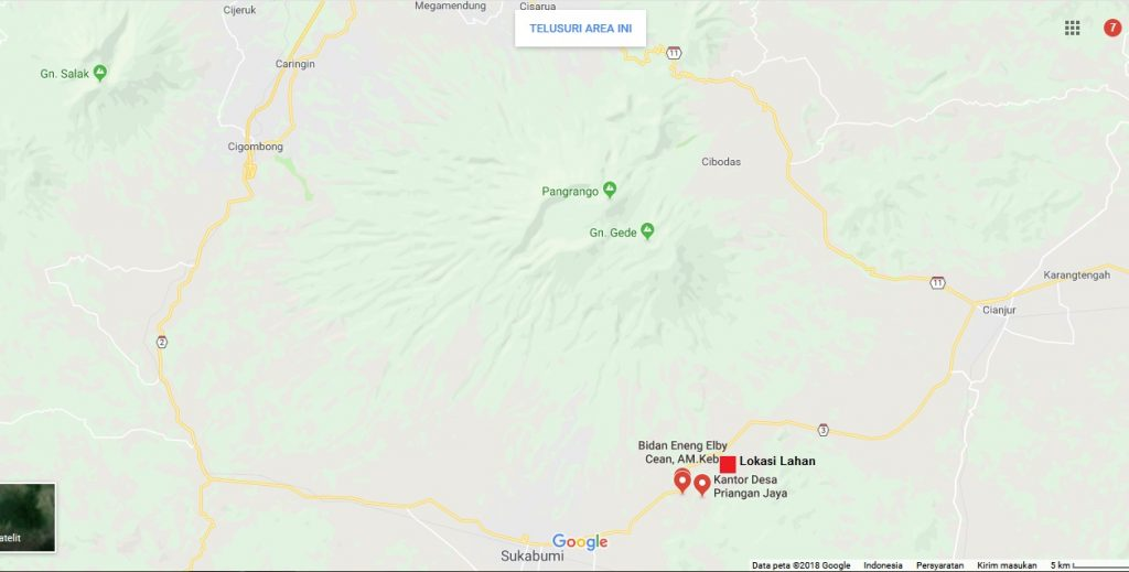 Jual Tanah di Sukabumi Cianjur