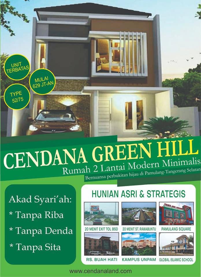 KPR Rumah Syariah 2 Lantai di Tangsel Cendana Green Hill