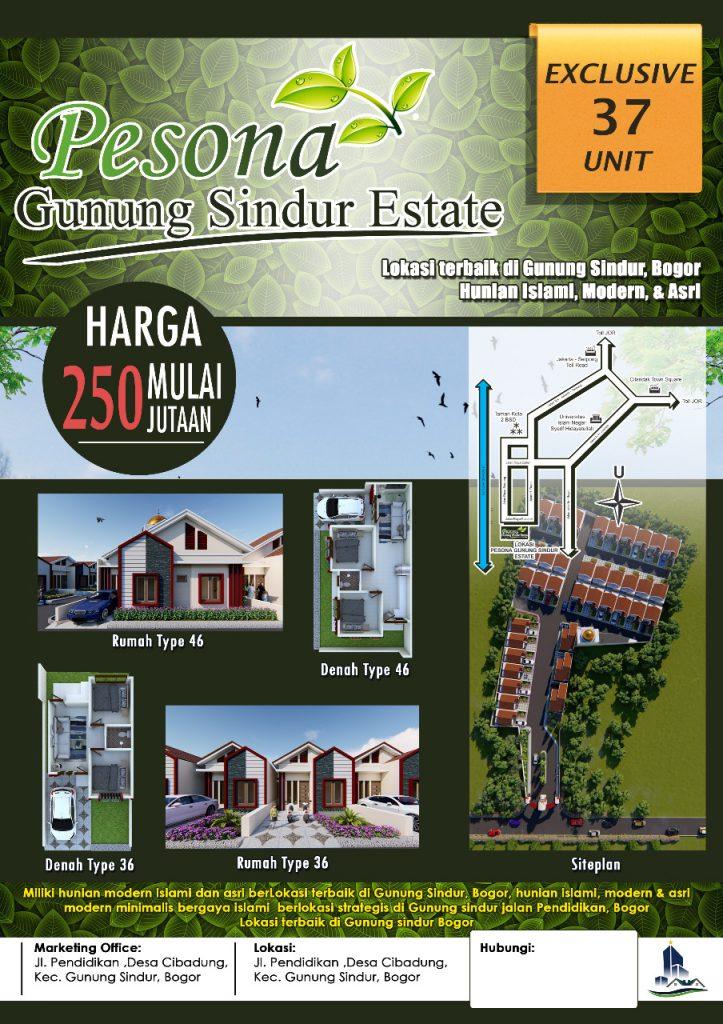 Pesona Gunung Sindur Estate KPR Rumah dekat Serpong
