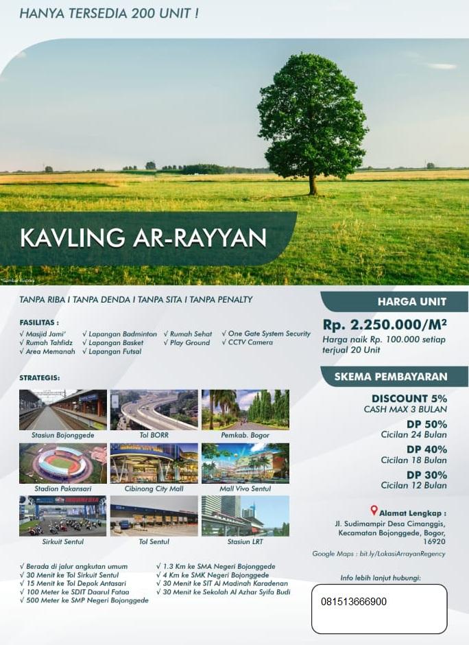 Kavling Tanah Siap Bangun Di Bogor