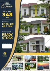 Rumah Dekat Stasiun Cisauk Siap Huni dekat BSD