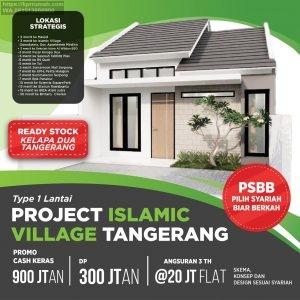 Rumah di Islamic Village Serpong dekat Karawaci dan Sumarecon